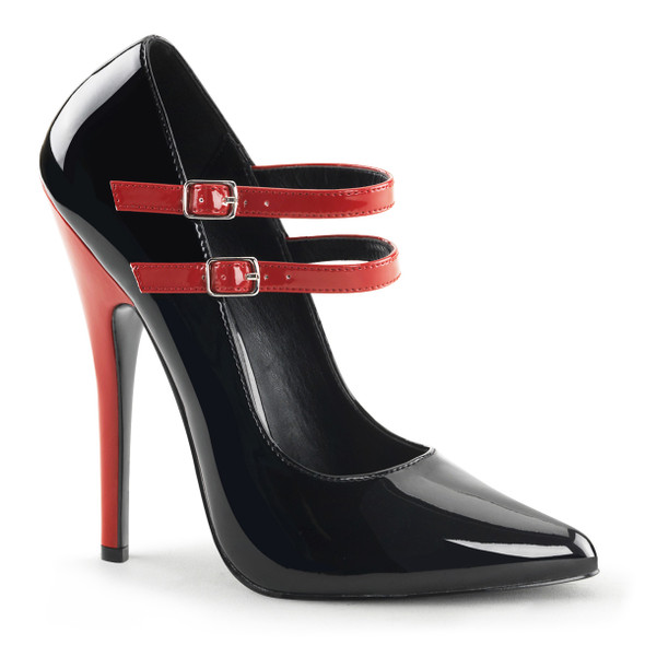 6 Inch Maryjane Pump With Contrast Heel Devious | Domina-442