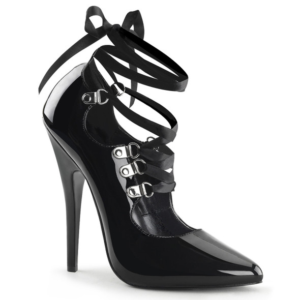 6 Inch Fetish Lace-up Pump Devious | Domina-456