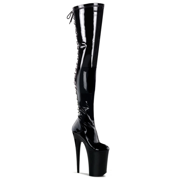 Pleaser | Infinity-3063, 9 Inch Heel Thigh High Boots