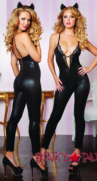 STM-9833, Leather and Lace Bodysuit