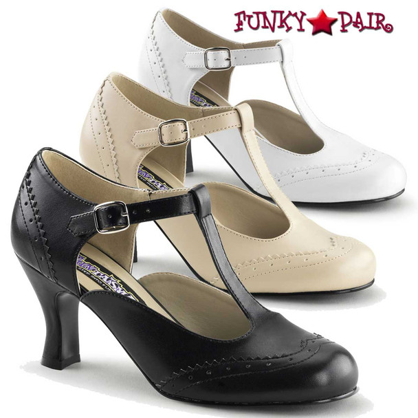 Funtasma Flapper-26, 3 Inch Heel T-Strap Pump Costume Shoes