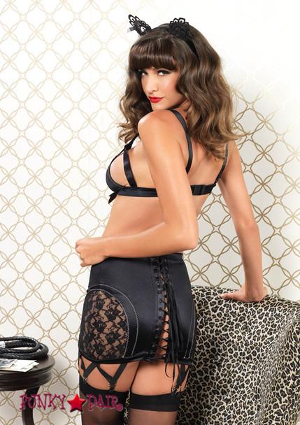 81465, Cag Strap Bra and Garter Skirt