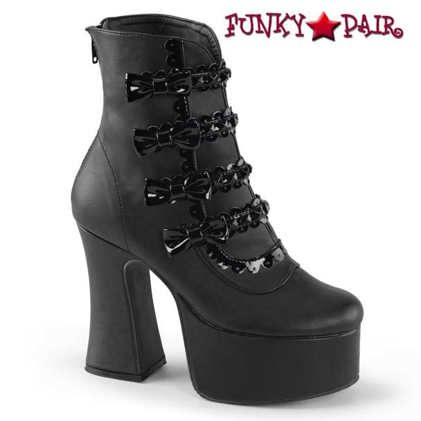Demonia Slush-60, Gothic Ankle Boot with Studs