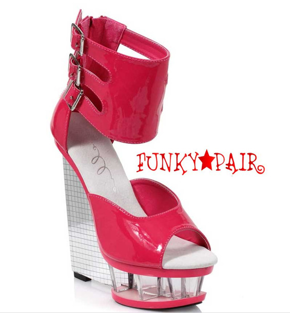 "Red 610-Mira 6"" Wedge Ankle Strap Sandal  Ellie Shoes"