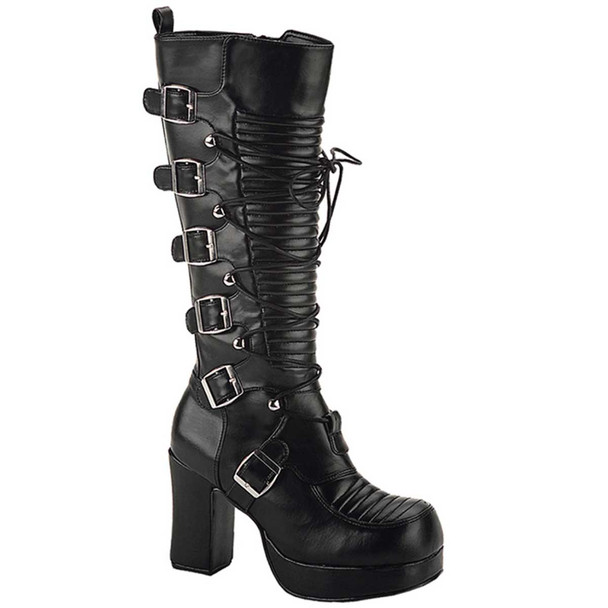 GOTHIKA-200, Goth Punk Lolita Knee High Boot by Demonia