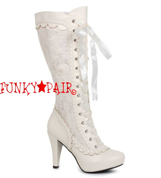 "414-Mary 4"" Lace Knee High Boots"