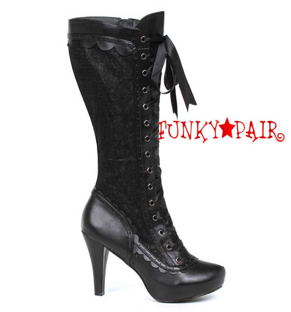 "1031 Shoes | 414-Mary 4"" Lace Knee High Boots"
