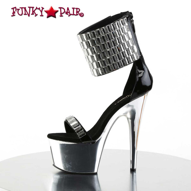 Pleaser | Adore-789RS, Rhinestones and Mirror Exotic Dancer Shoes Inner Side View