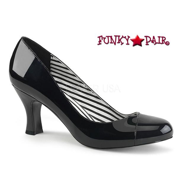 Pink Label | Jenna-01 CrossDresser High Heel Size 9-16 black patent