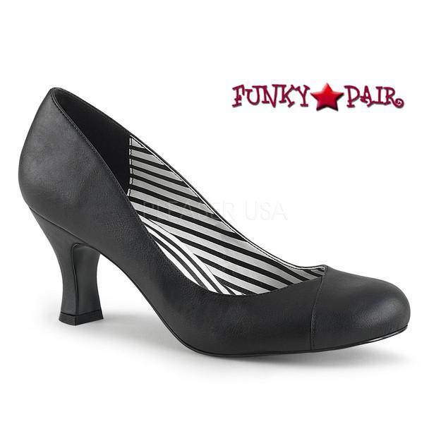 Pink Label | Jenna-01 CrossDresser High Heel Size 9-16 black faux leather