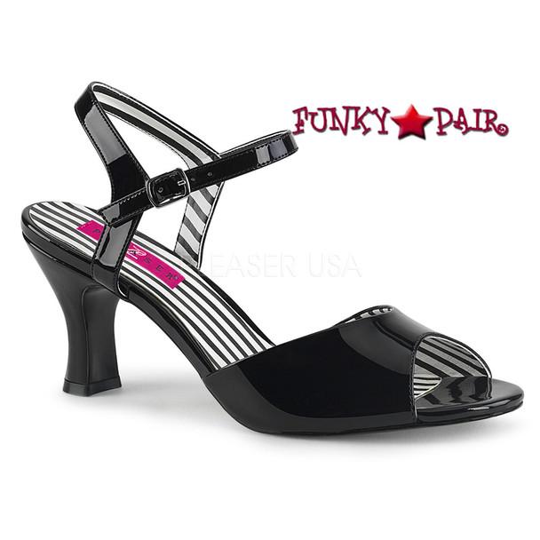 Black 3 Inch Sandal Plus Size 9-16 Pink Label | Jenna-09