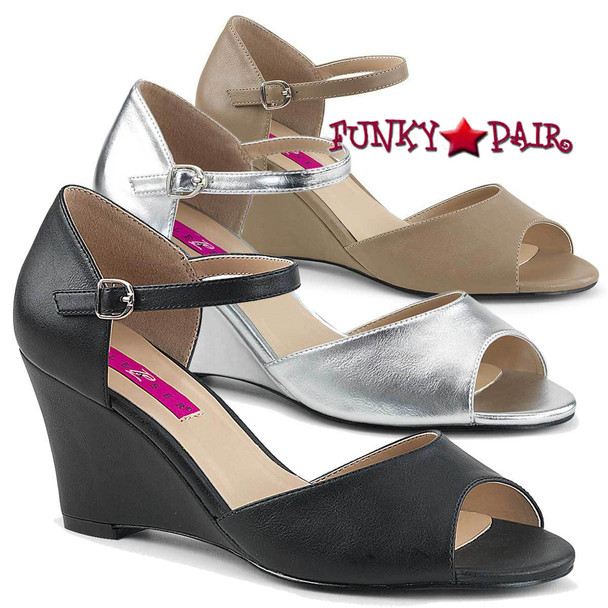 Pink Label | Kimberly-05, Wedge Ankle Strap Sandal Size 9-16