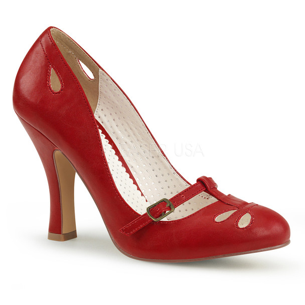 Smitten-20, 4 Inch T-Strap Mary Jane Pump