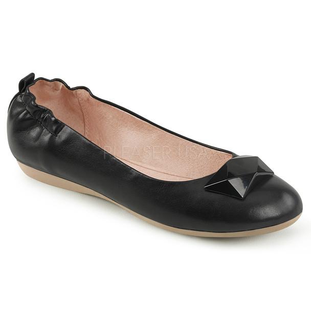 Olive-08, Ballet Flats with Elasticated Heel