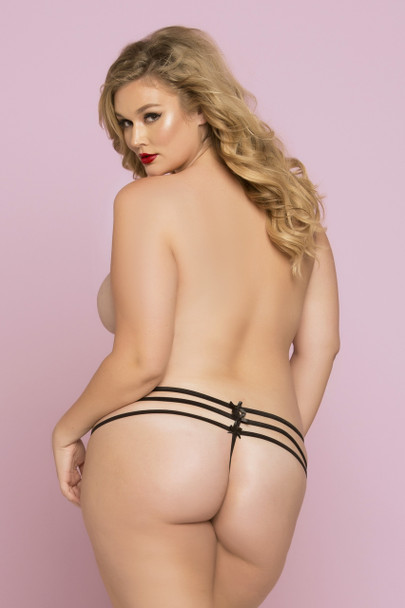 STM-10763X, Lace Thong with Strappy Detail