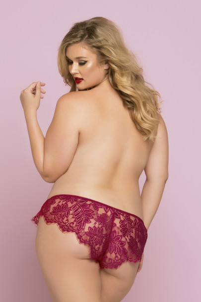Plus Size Eyelash Lace Boxer STM-10761X