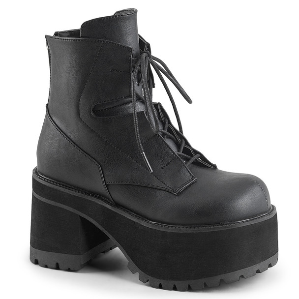 Chunky Heel Platform Ankle Boots by Demonia Ranger-102