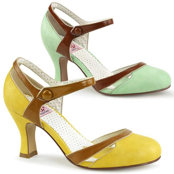 Flapper-27, Kitten Heel D'orsay Pump   Pin-Up Couture