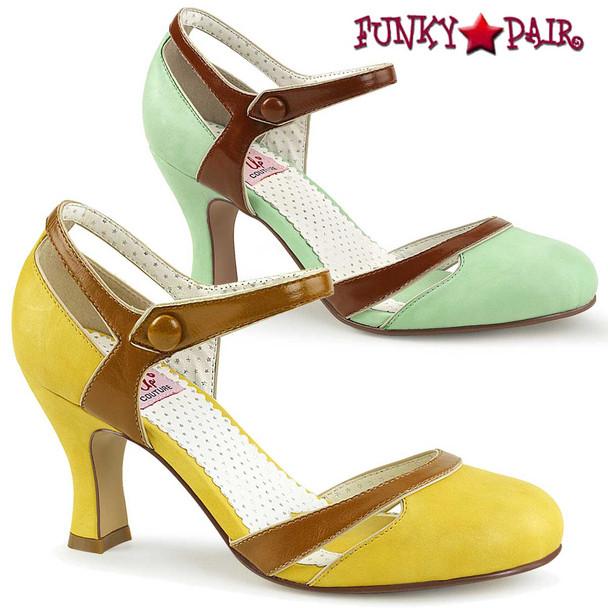 PinUp Shoes   Flapper-27, Kitten Heel D'orsay Pump
