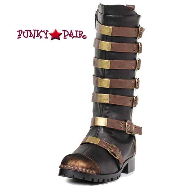 Men Multi Buckle Boots 158-Punk Brown