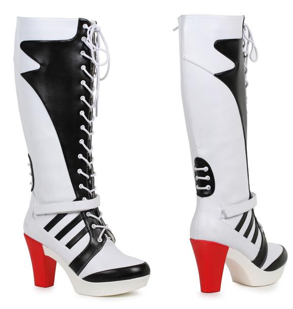 329-Squad, 3 Inch Chunky Heel Knee High Boots