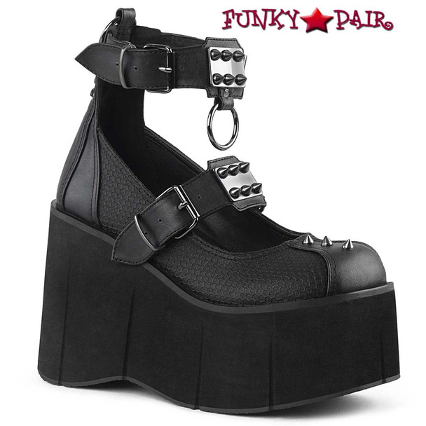Demonia Shoes Kera-12, Dual Buckles Platform Maryjane