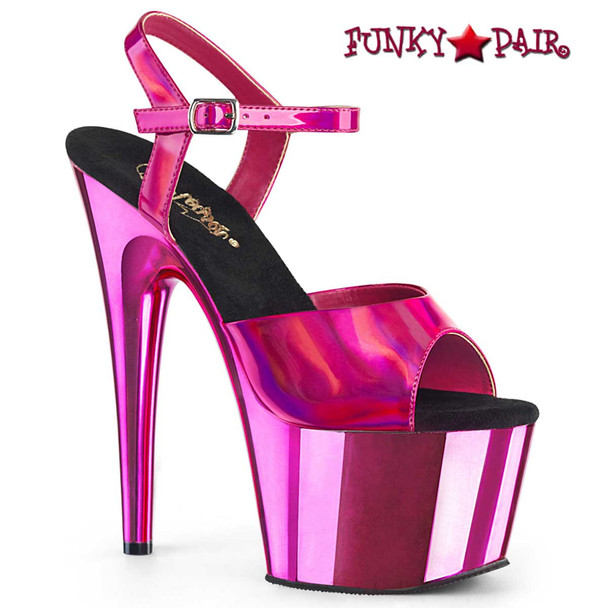 Adore-709HGCH Hot Pink Chrome by Pleaser