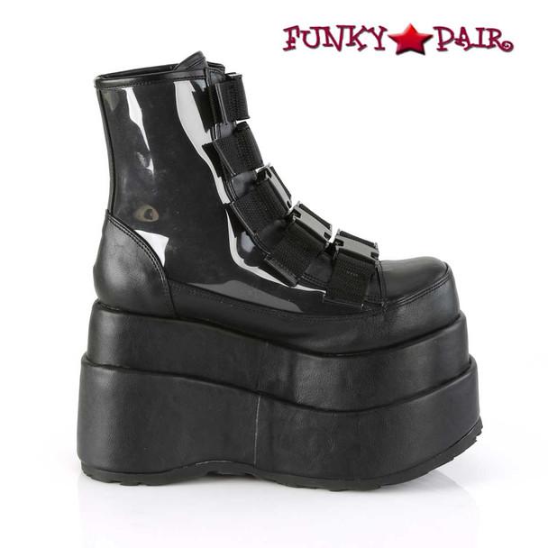 Women Demonia Bear-105, Spider Platform Ankle Boots inner side view
