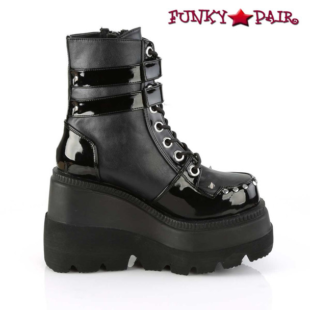 Women's Demonia Shaker-57, Wedge Ankle Boots side view