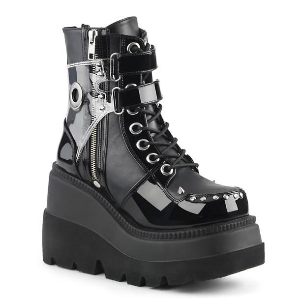 Women's Demonia Shaker-57, Wedge Ankle Boots