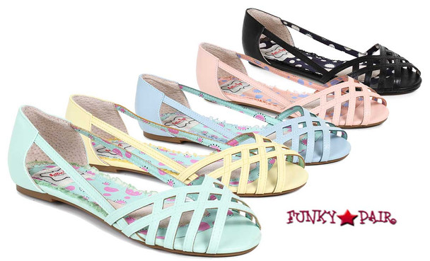 BP100-Carren, Criss Cross Flat Sandal | Funkypair