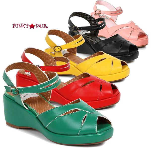 BP242-Niley, 2 Inch Peep Toe Wedge Sandal