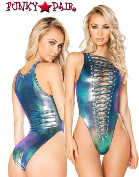 J. Valentine | JV-FF139 Rave Wear Lace-up Bodysuit Made in The USA