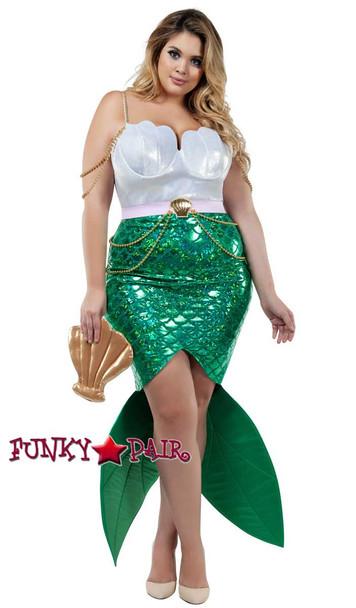 Starline Costume   S8022X, Plus Size Alluring Sea Siren Full View
