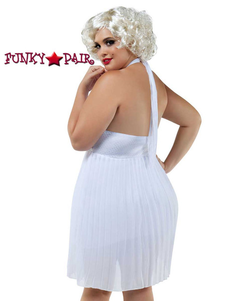 Starline Costume   S8027X, Plus Size Blonde Bombshell Back View