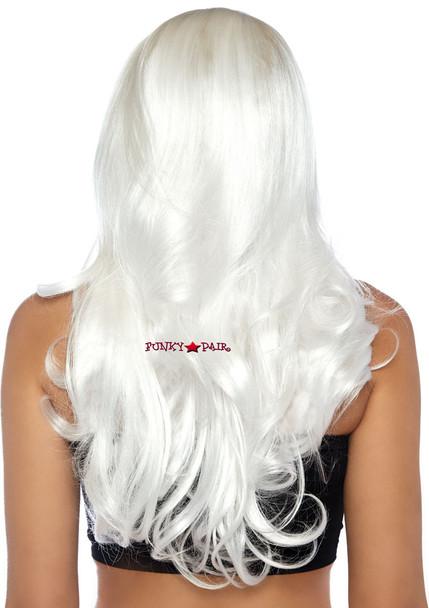 Long Wavy Wig   Leg Avenue LA-2829 white back view