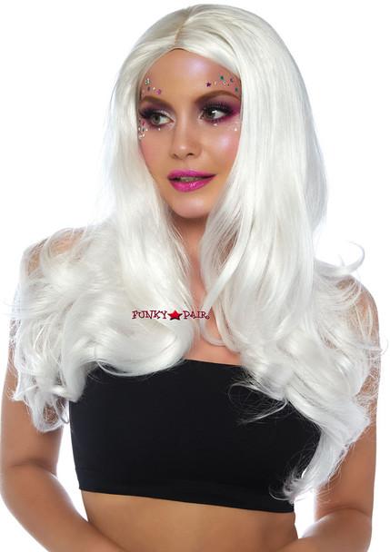 White Long Wavy Wig   Leg Avenue LA-2829