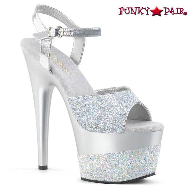 Adore-709-2G, Glitter Platform Sandal Color Silver