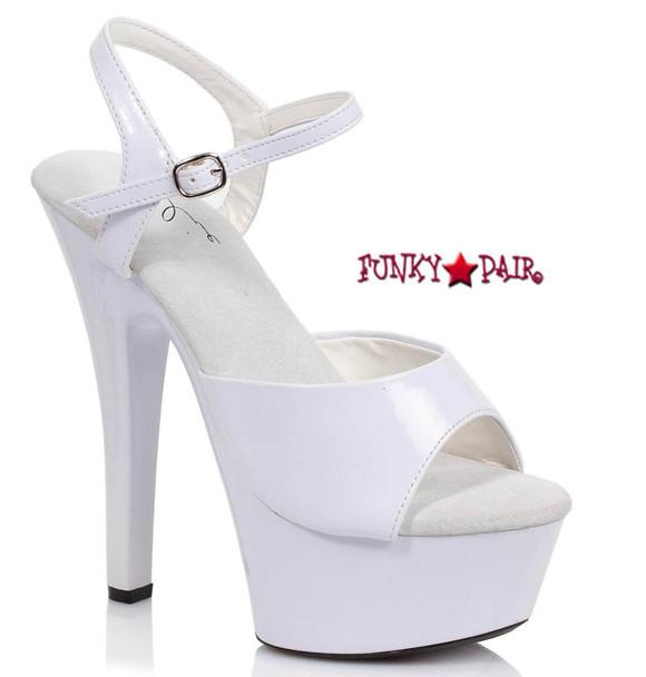 Platform Ankle Strap Sandals | Ellie Shoes 601-Juliet Color White