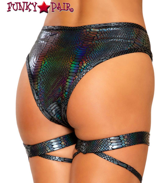 Roma | R-3733, SNAKE SKIN SHORTS back view