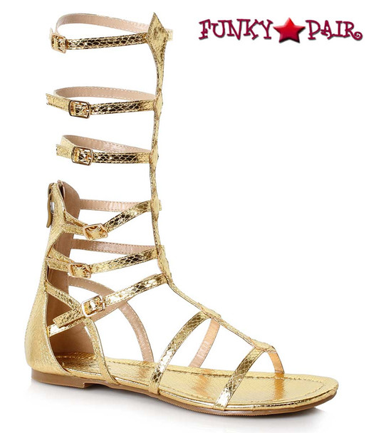 Women Flat Mid Calf Gladiator Sandal Ellie Shoes 015-Zena color gold