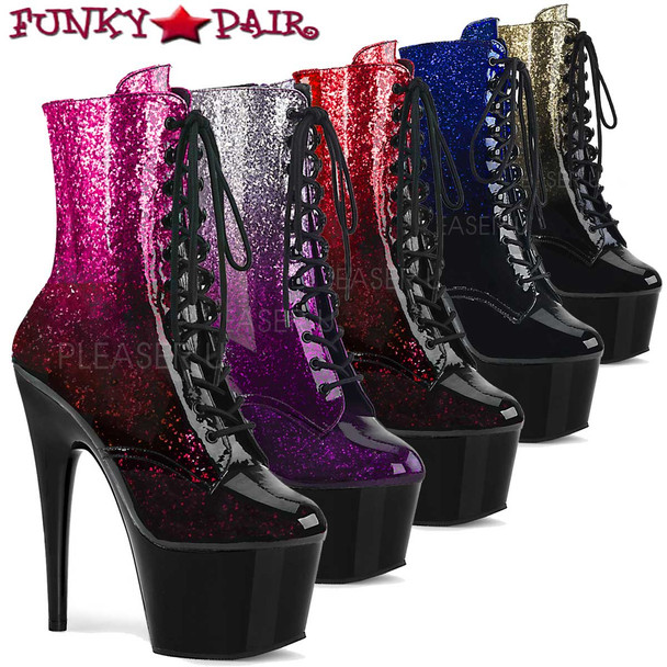 Pleaser Adore-1020OMB, Ankle Boots with Ombre Effect