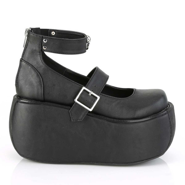 Violet-32, Gothic Platform Maryjane Sandal with Ankle Band   Demonia