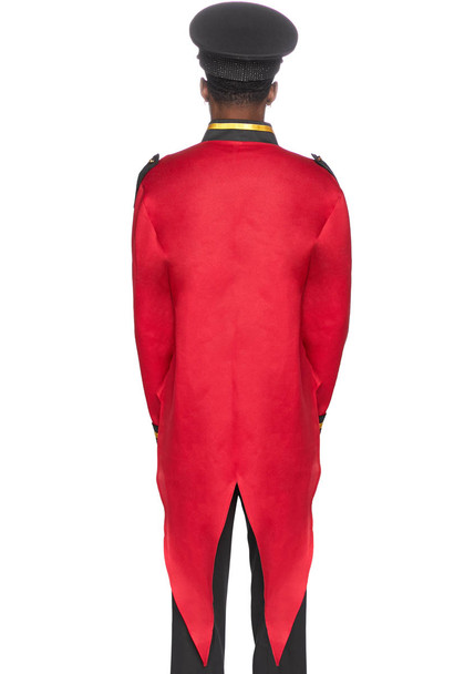 Leg Avenue LA-86847, Men's Red Military jacket with Tail Back View