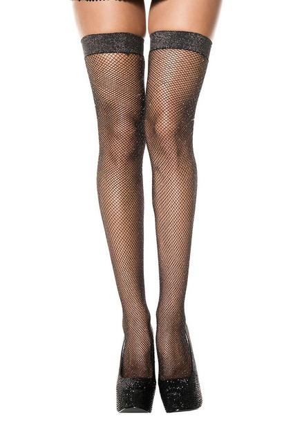 Shimmery Fishnet Stocking by Music Legs ML-4994