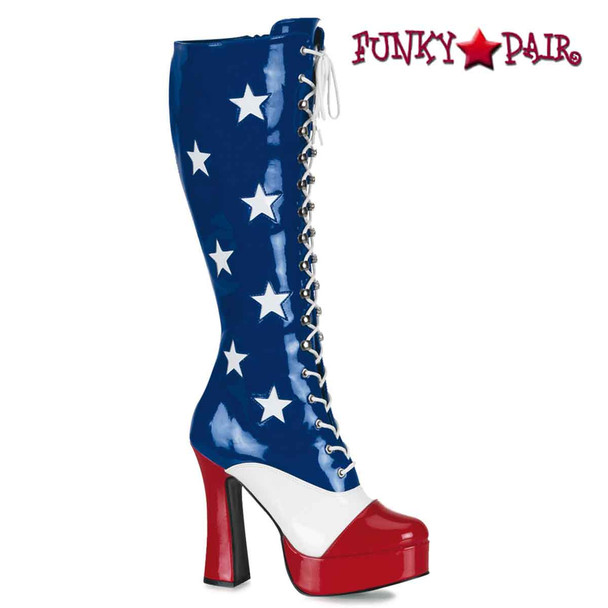 Women's Patriotic Red/white/Blue Boot Pleaser | ELECTRA-2030