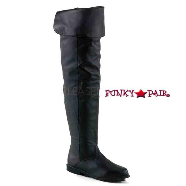 FUNTASMA | Raven-8826, Thigh-high boot Black Leather  sz 6-14 *