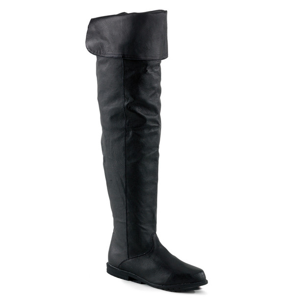 Raven-8826, Leather Thigh-high boot | Funtasma