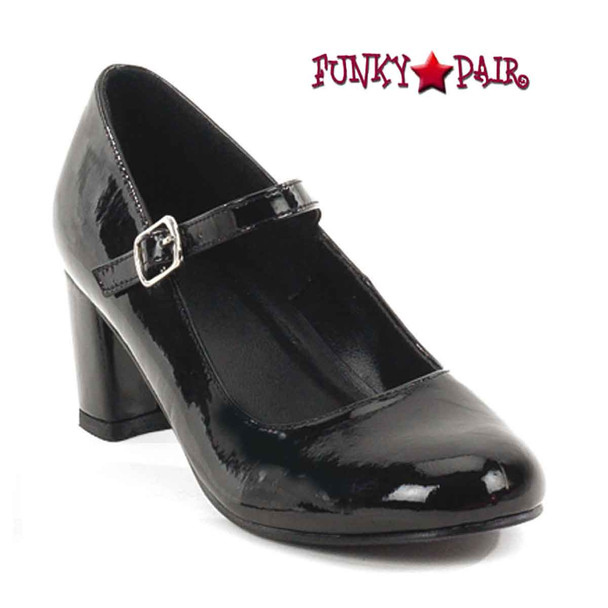 SCHOOLGIRL-50, Black Mary Jane Shoes