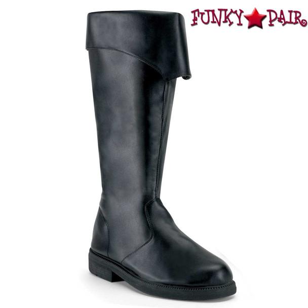 Black Men's Pirate Boots | Funtasma Captain-105